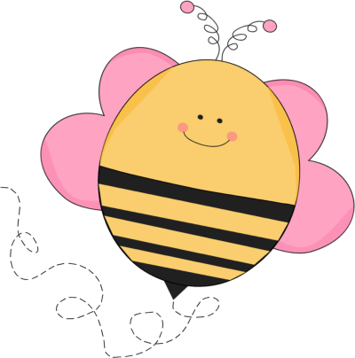picture black and white stock Beehive clipart spring. Buzzing pink bee whimsical.