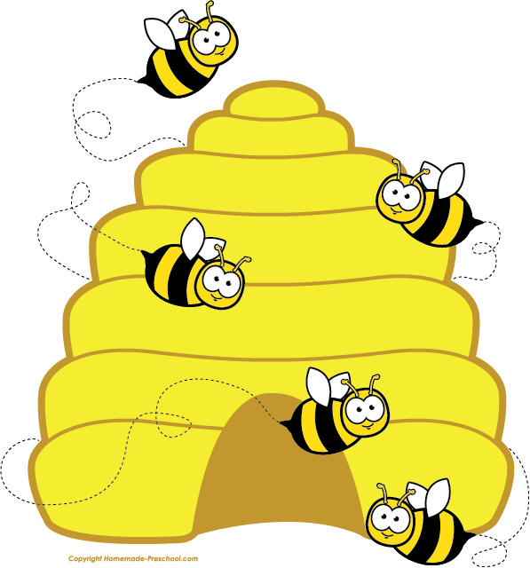 clipart black and white download Home free bee bees. Beehive clipart.