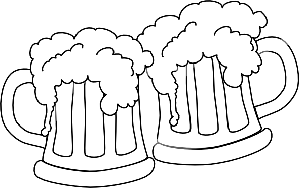 svg black and white library Drawn beer beer cheer
