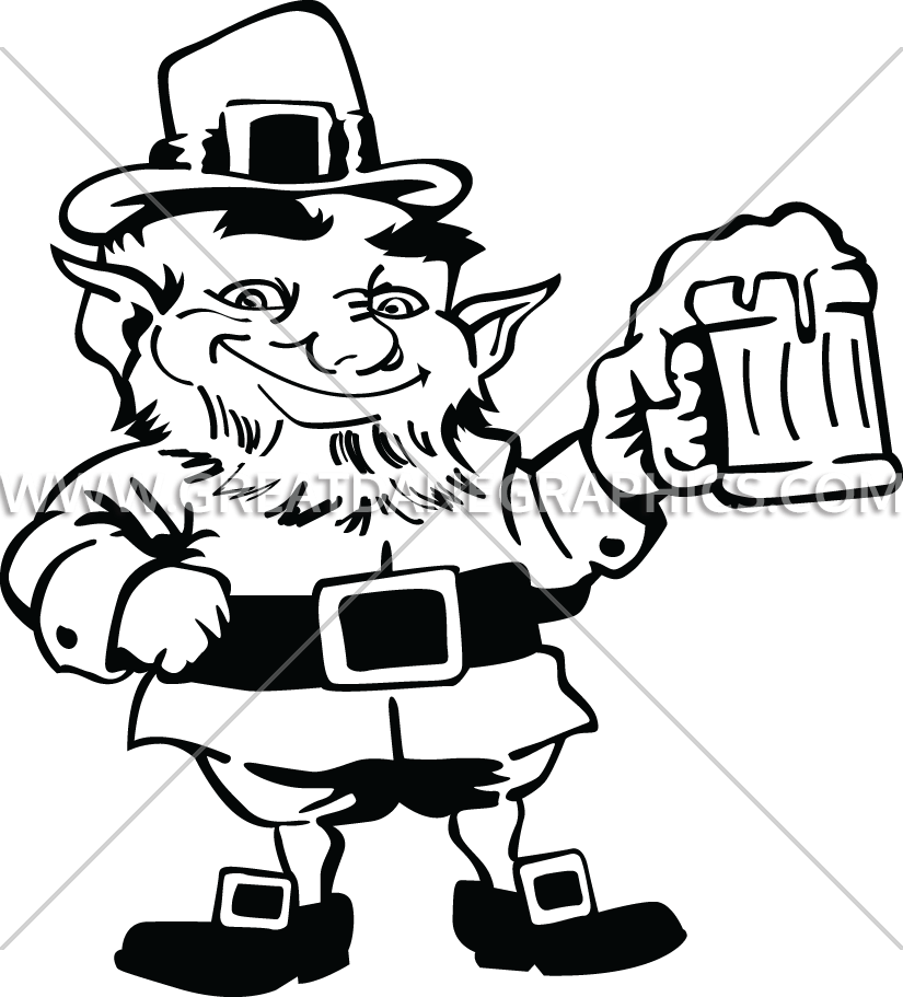clip transparent library Leprechaun clipart black and white. Cheers production ready artwork