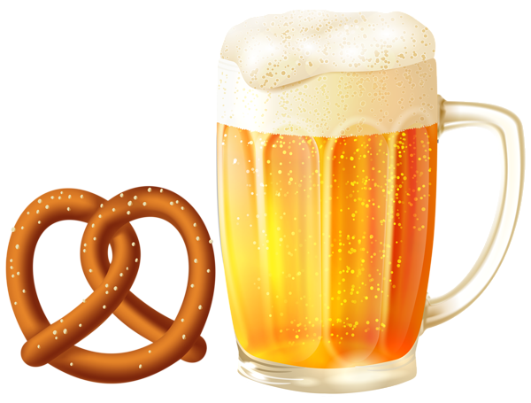 graphic freeuse stock Beer clipart. Mug and pretzel png