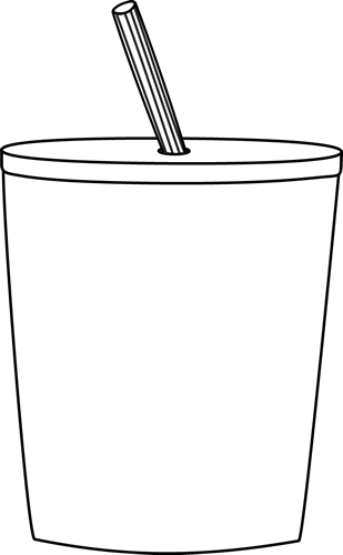 freeuse library Cup black and white clipart. To go clip art