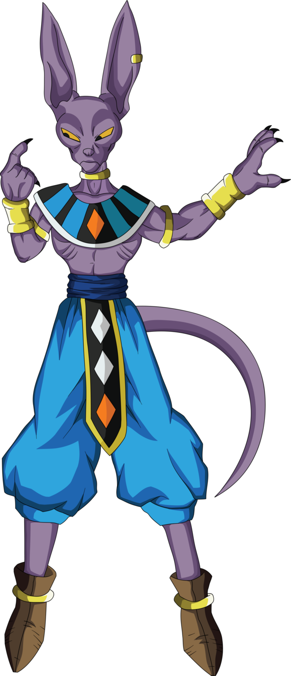 vector library stock Lord god of destruction. Beerus drawing full body