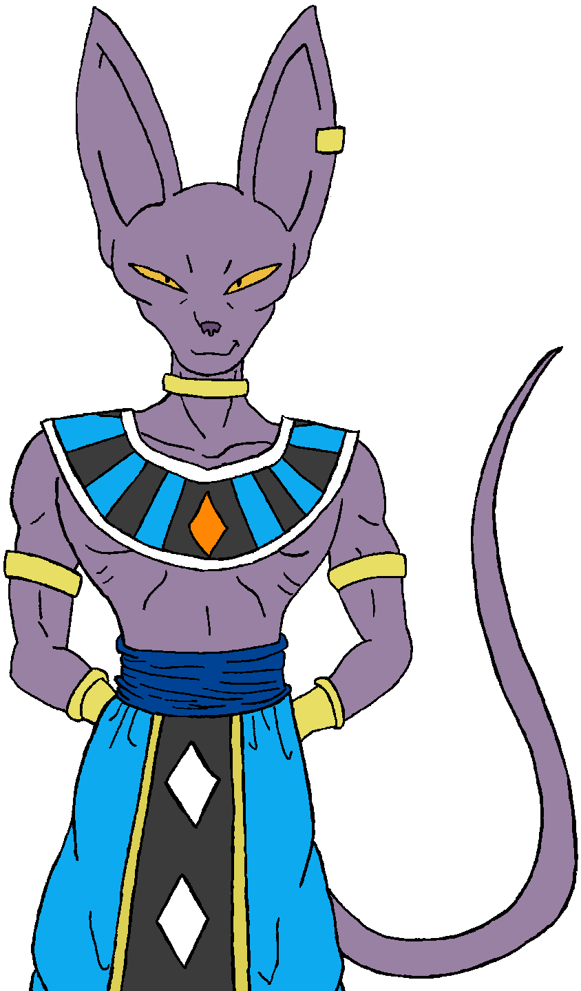 image freeuse library Beerus drawing full body. Lord by kaosjay on