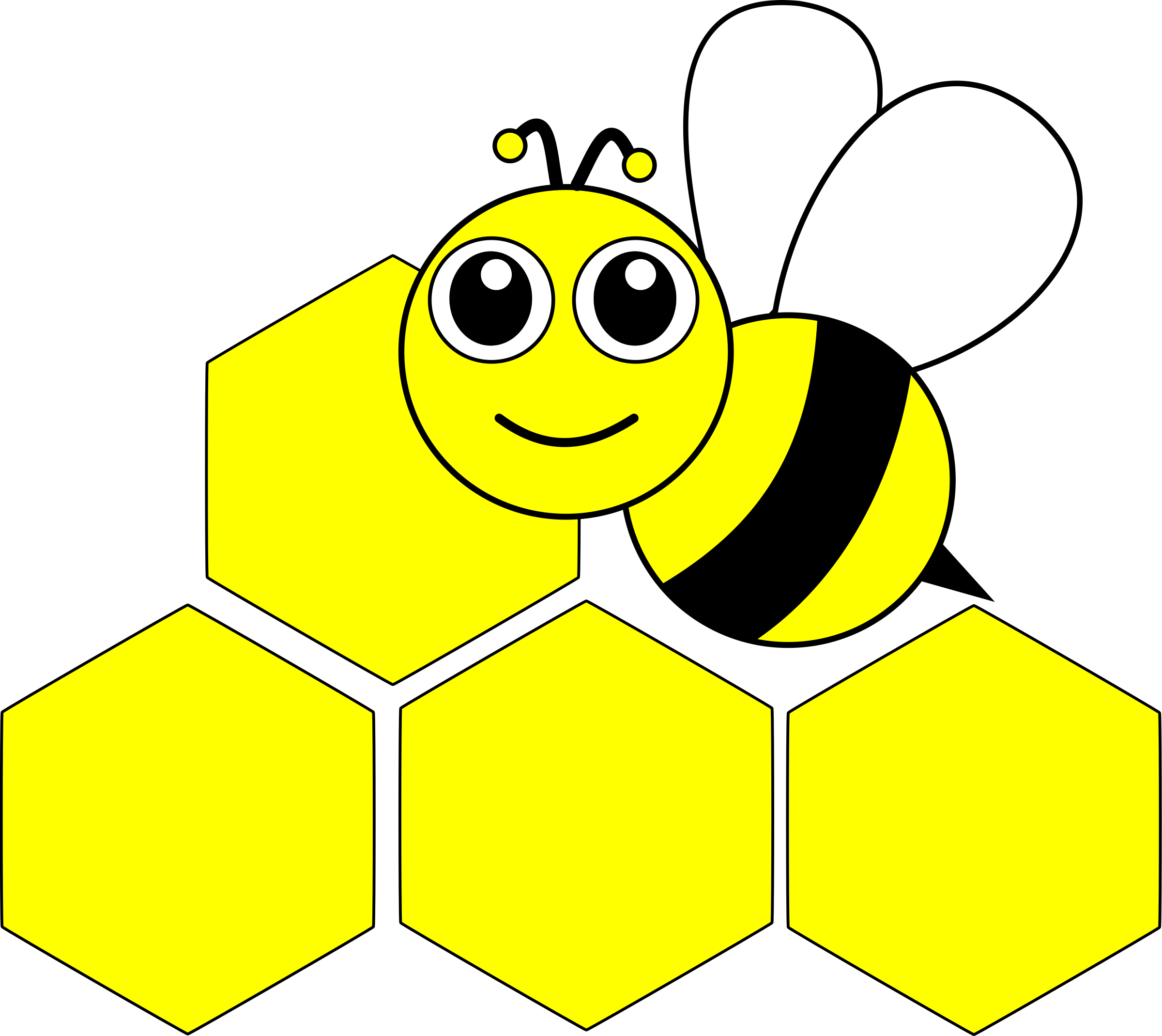 graphic royalty free stock Bees clipart beautiful. Abeille bee kawai big.