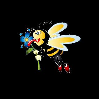 clip art transparent stock Pin by sandra tavares. Bees clipart christmas.