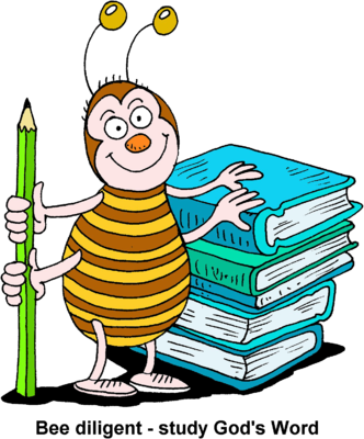 picture free download Students studying clipart. Image bee holding pencil