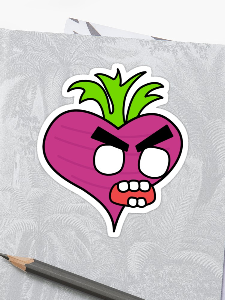clipart royalty free download Beet drawing angry. Zombie sticker