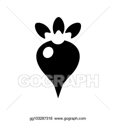 clip art transparent stock Beet root icon in. Beets drawing symbol