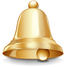 png freeuse Gold transparent png stickpng. Bell clipart