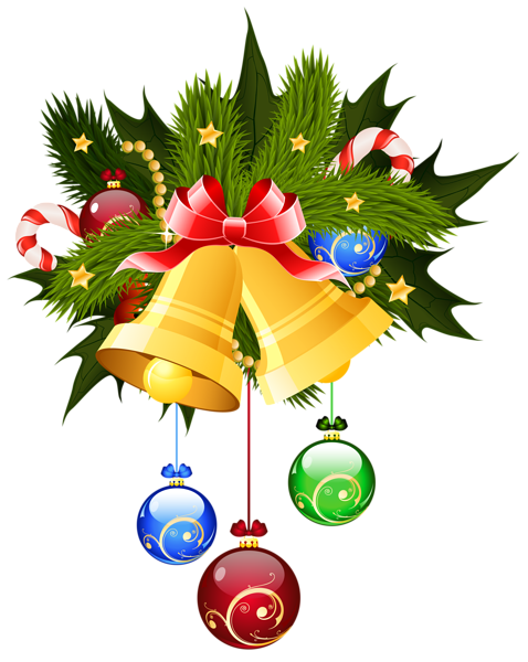 jpg freeuse library Christmas and ornaments transparent. Bells clipart holiday craft.