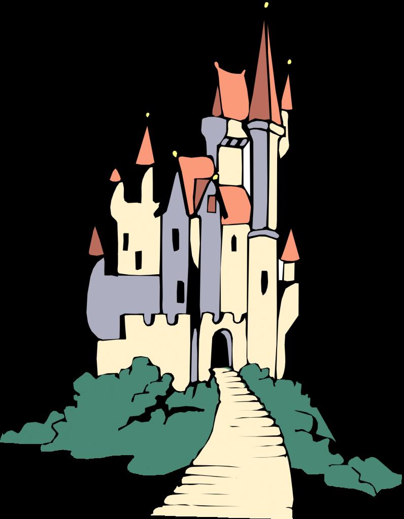 jpg transparent stock Belle clipart castle. Cinderella silhouette clip art.