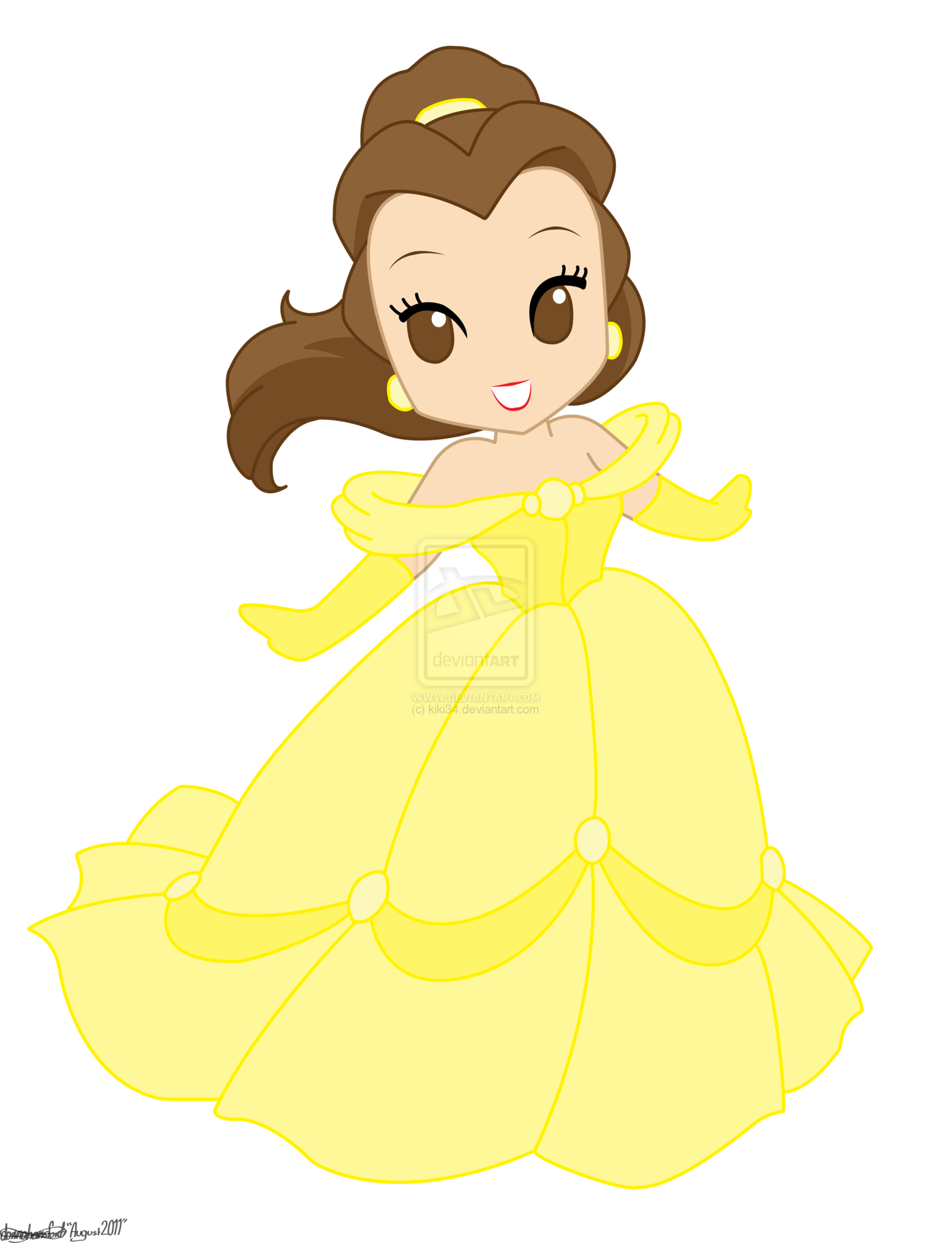 jpg Chibi Disney Princesses Drawings Disney princess belle by