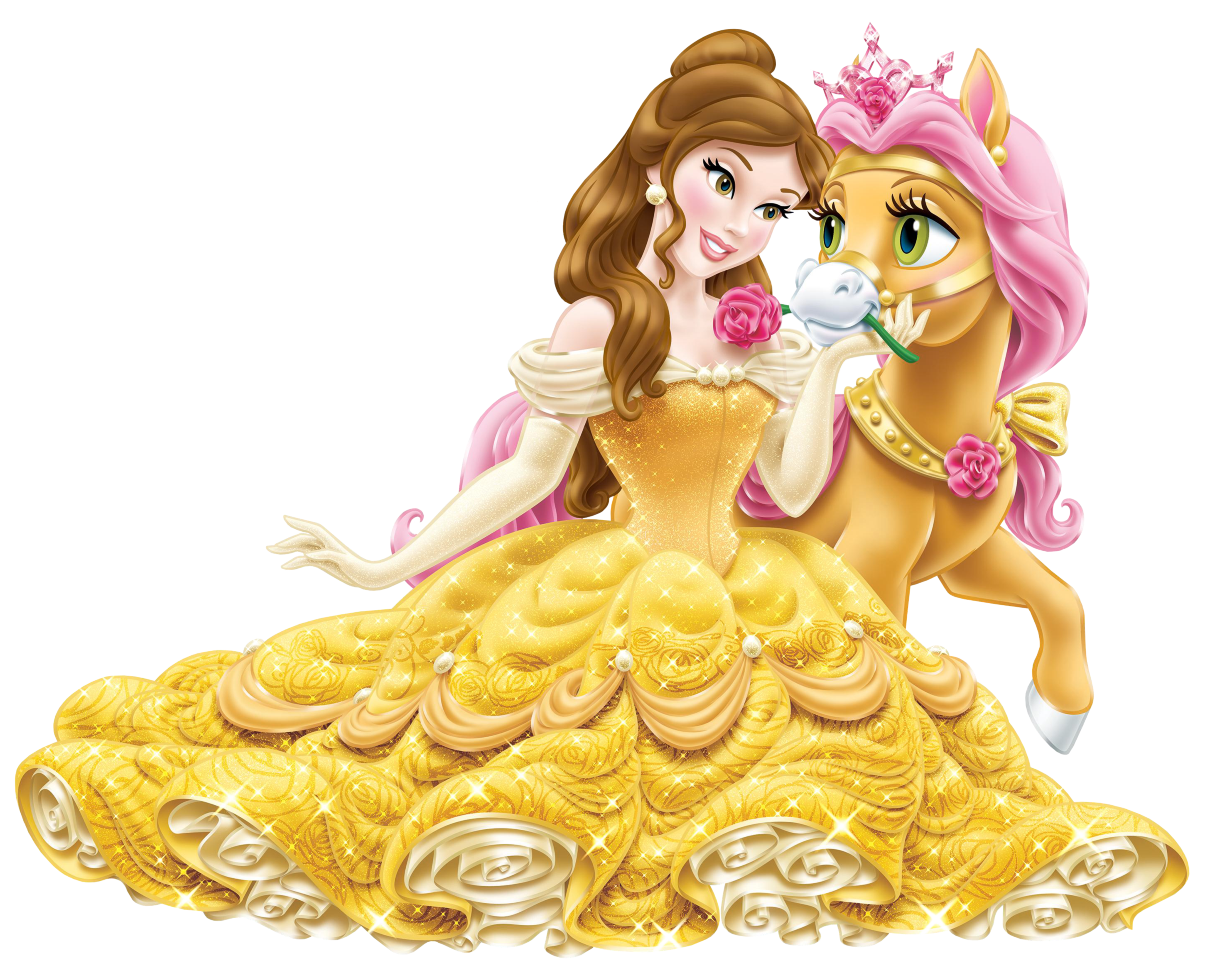 picture royalty free download Disney princess with cute. Belle transparent princes