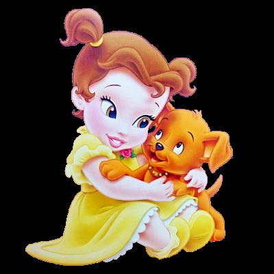picture freeuse Belle transparent baby princess. Little princesses clipart online