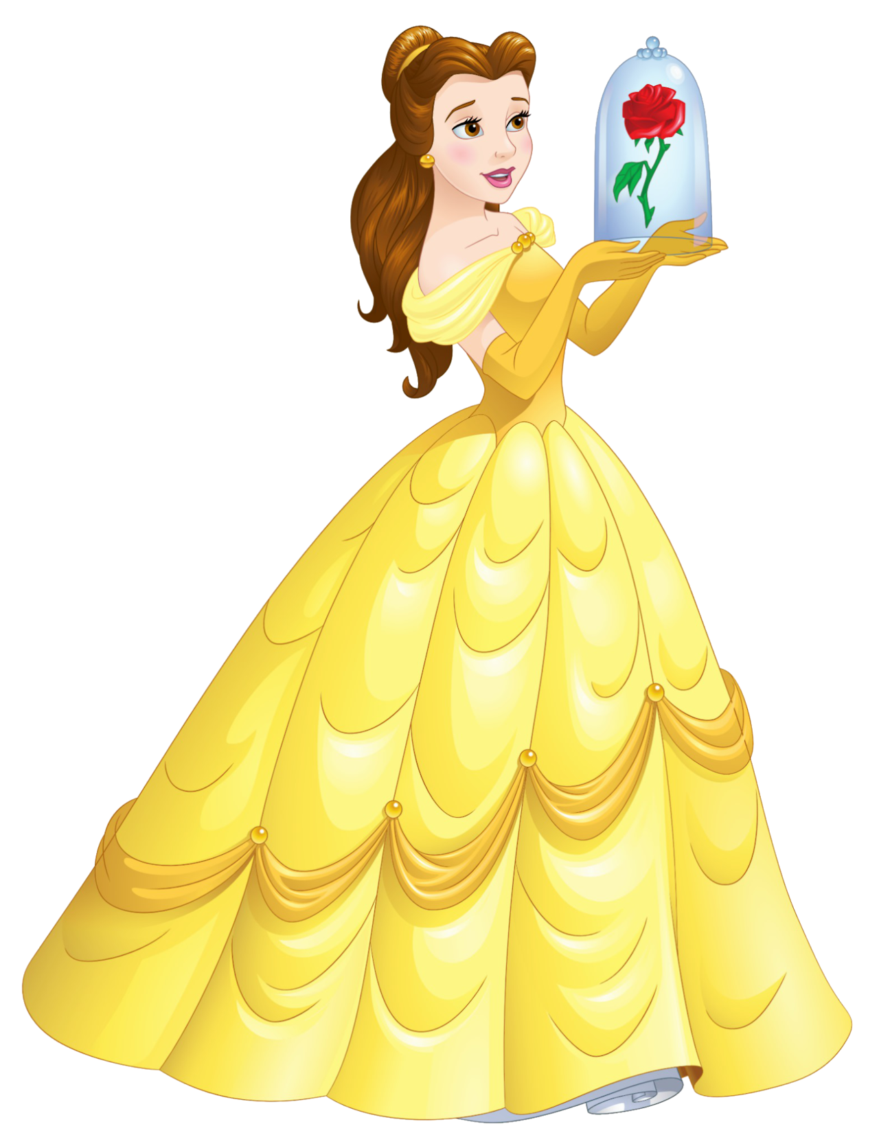 freeuse stock Belle transparent yellow dress. Artwork png en hd