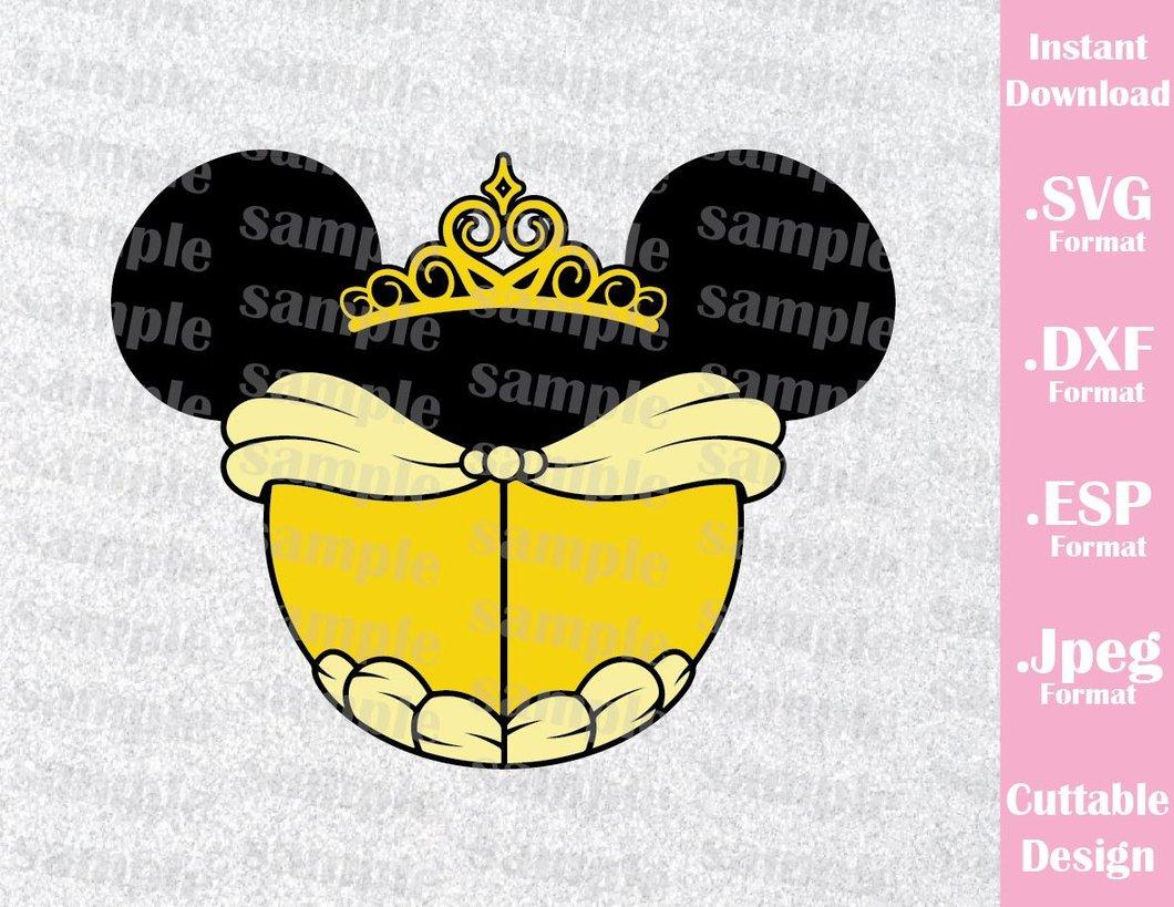 jpg download Princess ears inspired cutting. Belle svg mickey ear