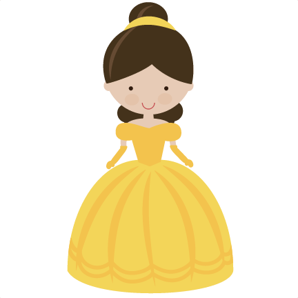 picture transparent stock Belle svg princess. Fairytale in yellow scrapbooking