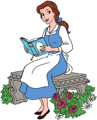 clipart freeuse download Collection of free comart. Belle transparent reading