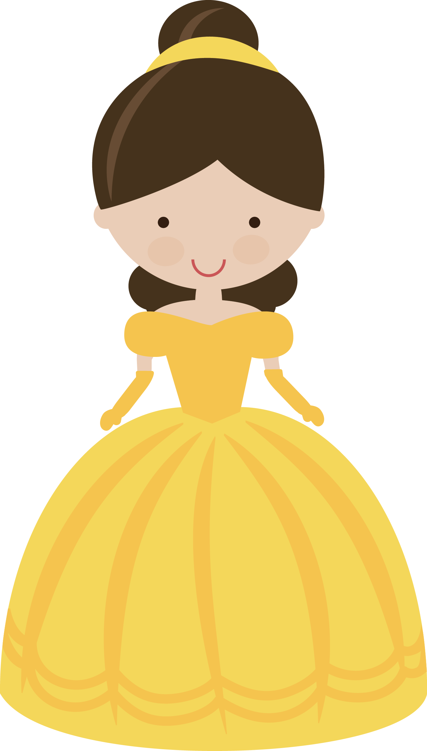 graphic Belle svg silhouette yellow. Fairytale princess in miss