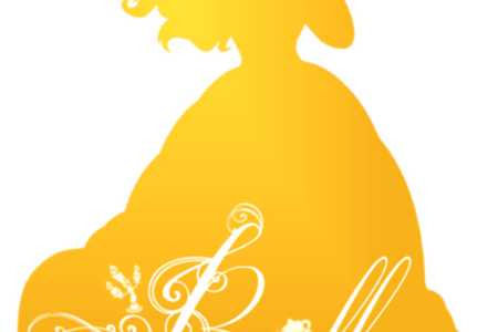 clipart Belle svg silhouette yellow. Disney princess k pictures
