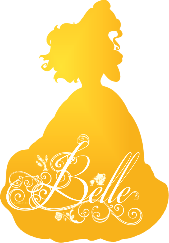 banner freeuse stock Disney princess photo fanpop. Belle svg silhouette yellow