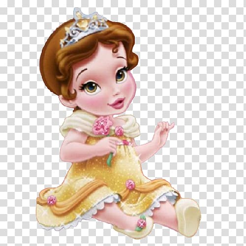clip art royalty free download Beauty and the beast. Belle transparent baby princess