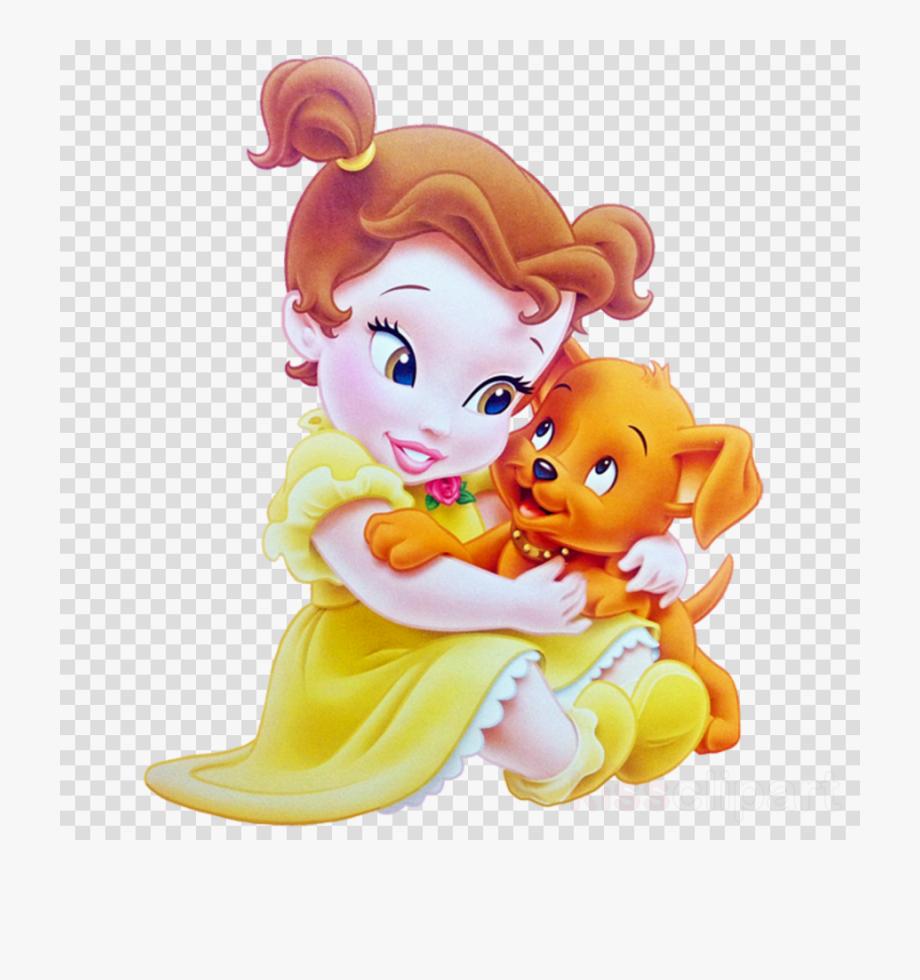 jpg transparent library Belle transparent baby princess. Disney clipart ariel tiana