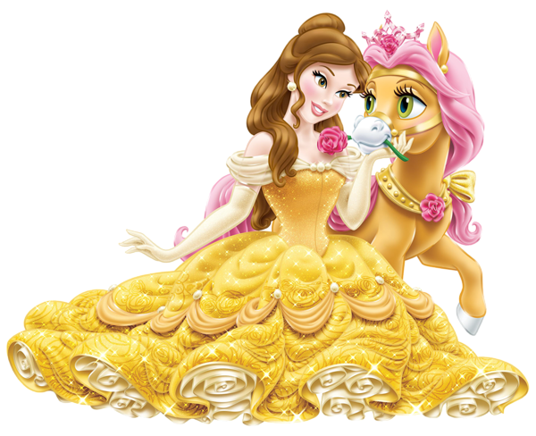 picture black and white library Belle transparent baby princess. Disney with cute pony