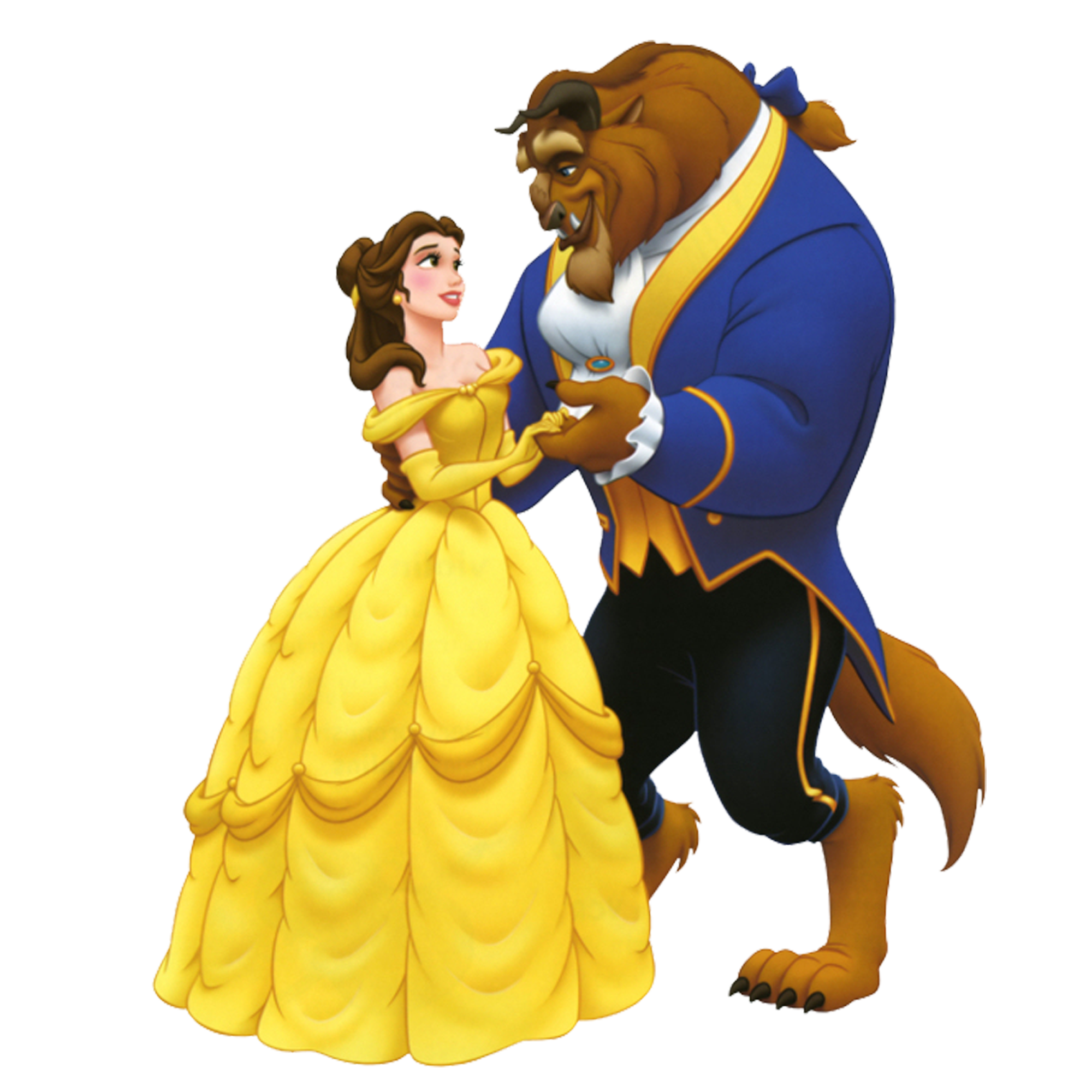picture black and white Beauty and the beast. Belle transparent dancing