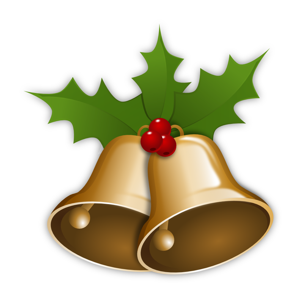 graphic black and white Christmas bells clipart. Bell png images free