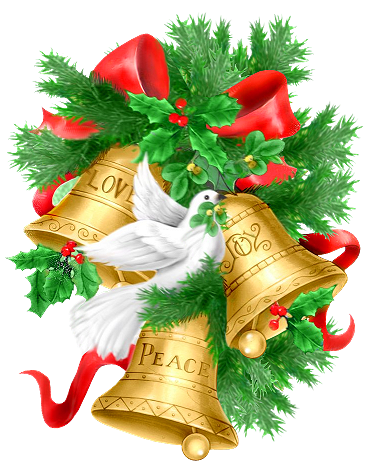 image royalty free Bells clipart holiday craft. Christmas pine branch golden