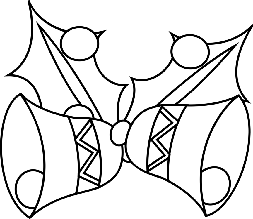 image freeuse stock Black and white jingle. Bells drawing