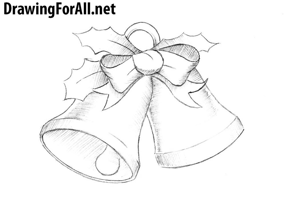 png stock Bells drawing. How to draw christmas