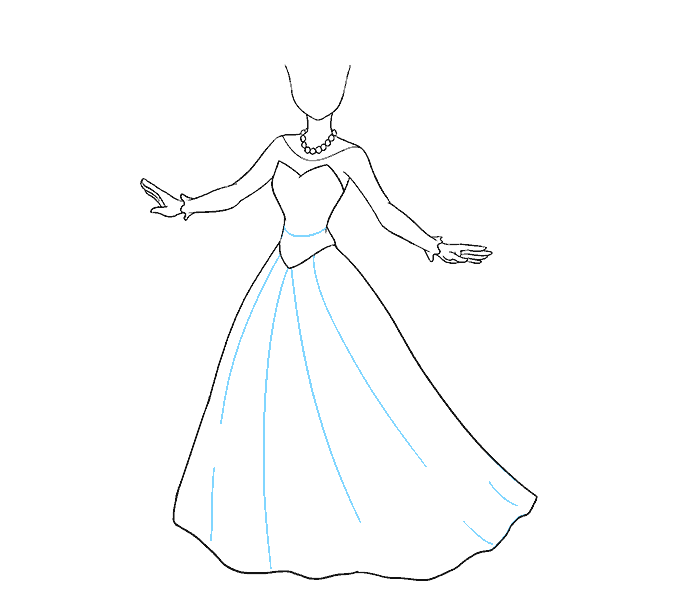 svg black and white Collection of free dresses. Drawing princess outfits
