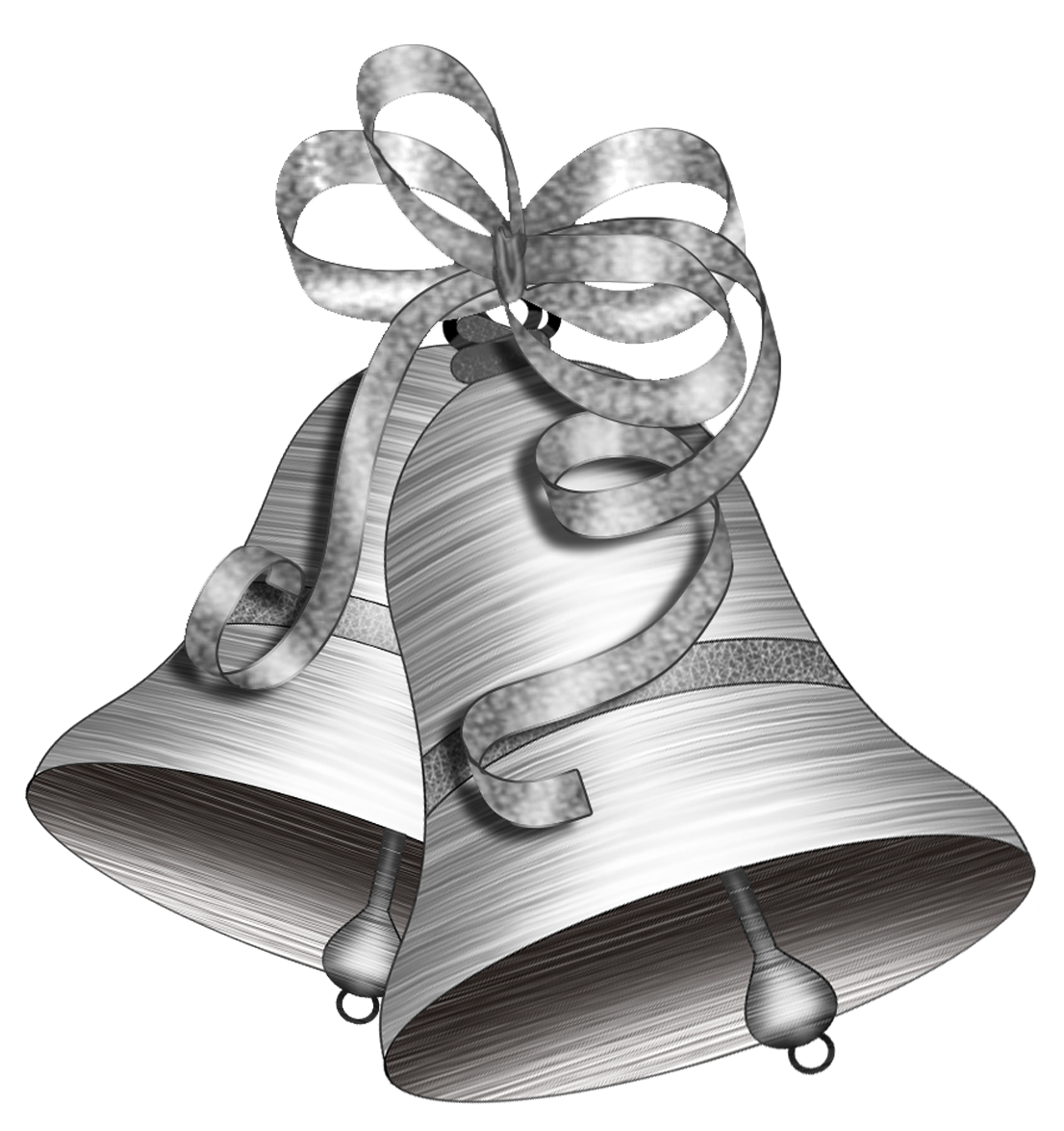 jpg library library Bells drawing illustration. Christmas png file