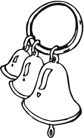 clip library library Bells drawing instrument. Ring the coloring page