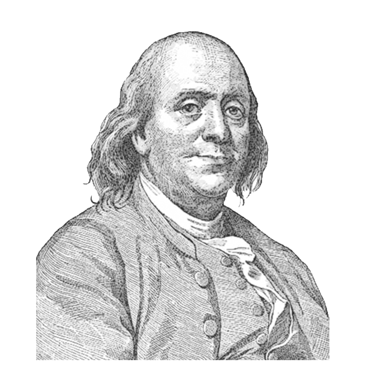 vector freeuse library Benjamin franklin face sideview. Jfk drawing side view