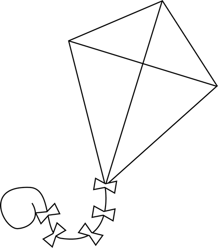 clipart black and white stock Kites drawing. Kite flying freedom of