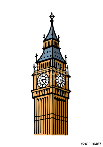 jpg royalty free download Ben clipart london clipart. Big tower great britain.