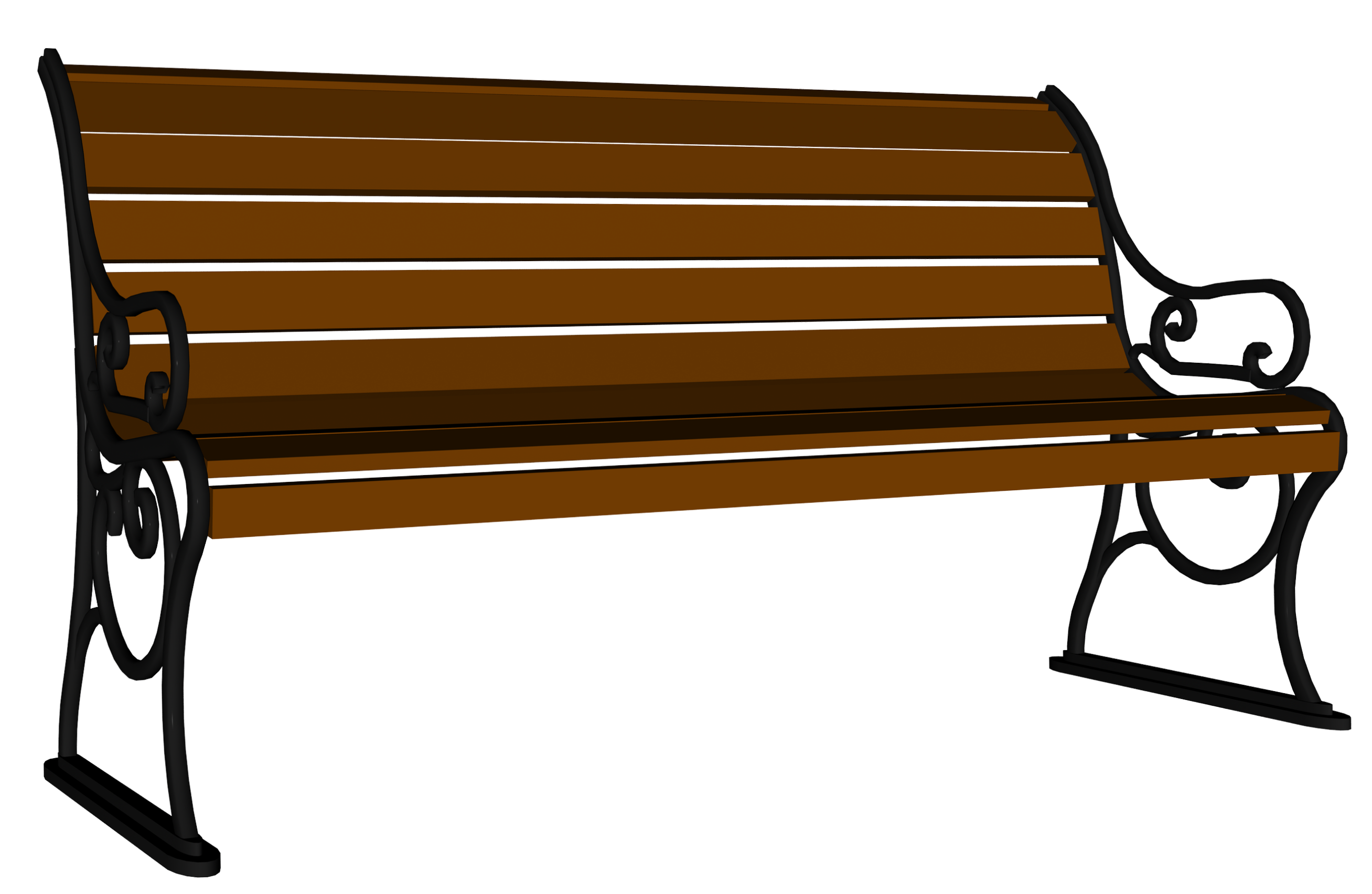 vector library Bench clipart. Wooden png image gallery