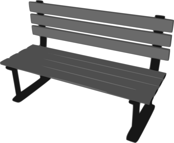 banner black and white library Bench park hi png. Going to clipart bed