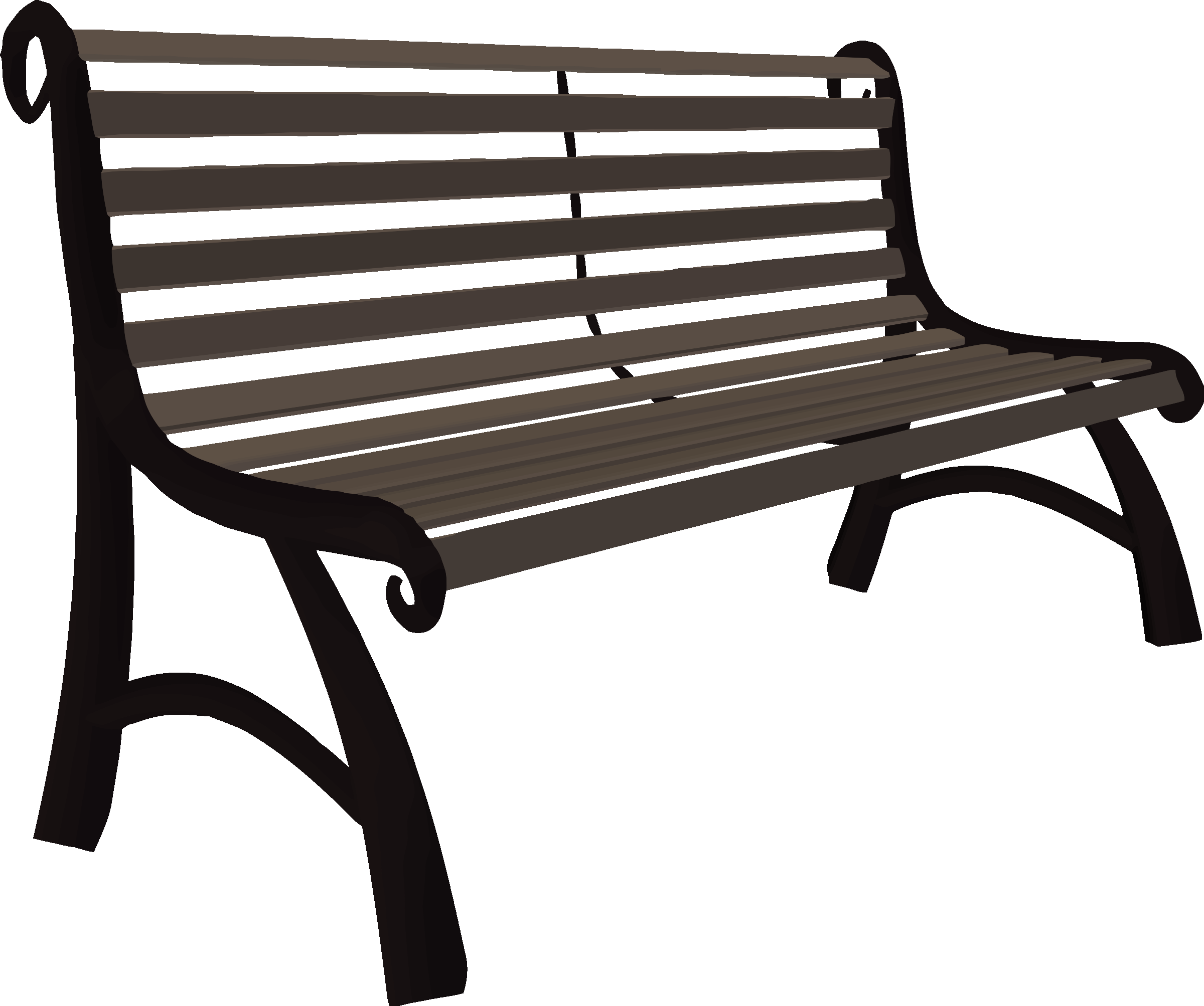 jpg black and white stock Park big image png. Bench clipart