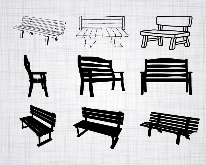 svg free stock Bench vector. Svg bundle clipart cut