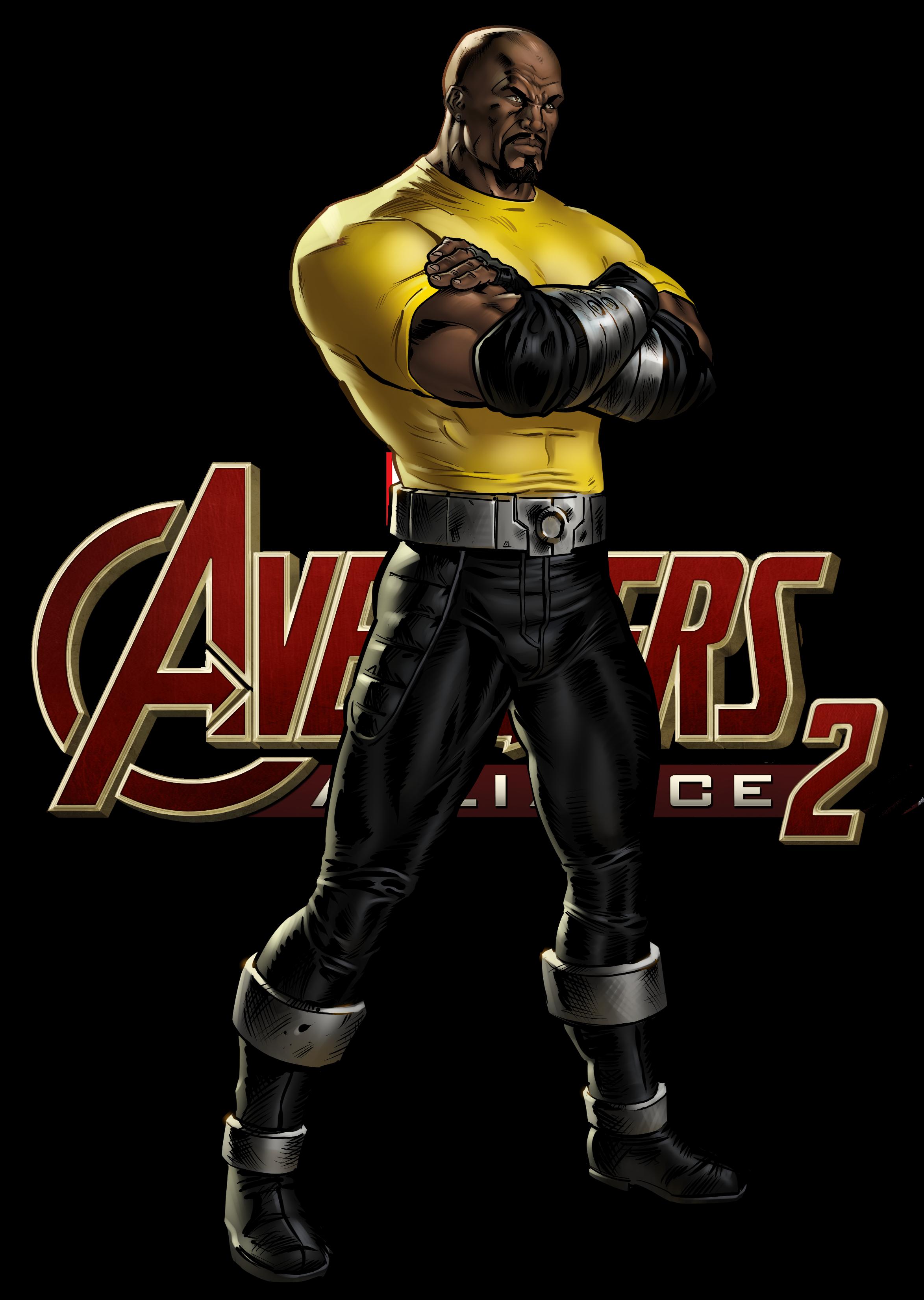 image freeuse stock Marvel avengers alliance . Drawing power luke cage