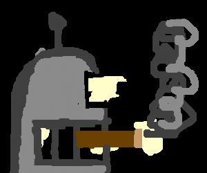 image library Bender smokes a cigar