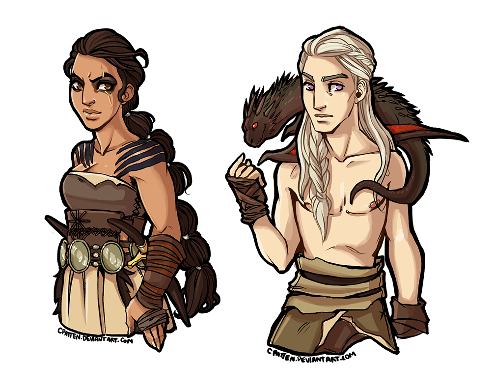banner black and white stock Drogo Dany Genderbend by CPatten on DeviantArt