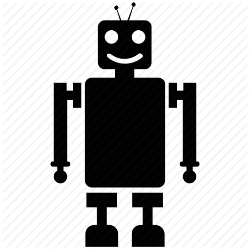 clip black and white download Robots Solid