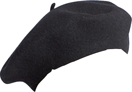 clip royalty free Beret transparent. Black wool vincent pradier