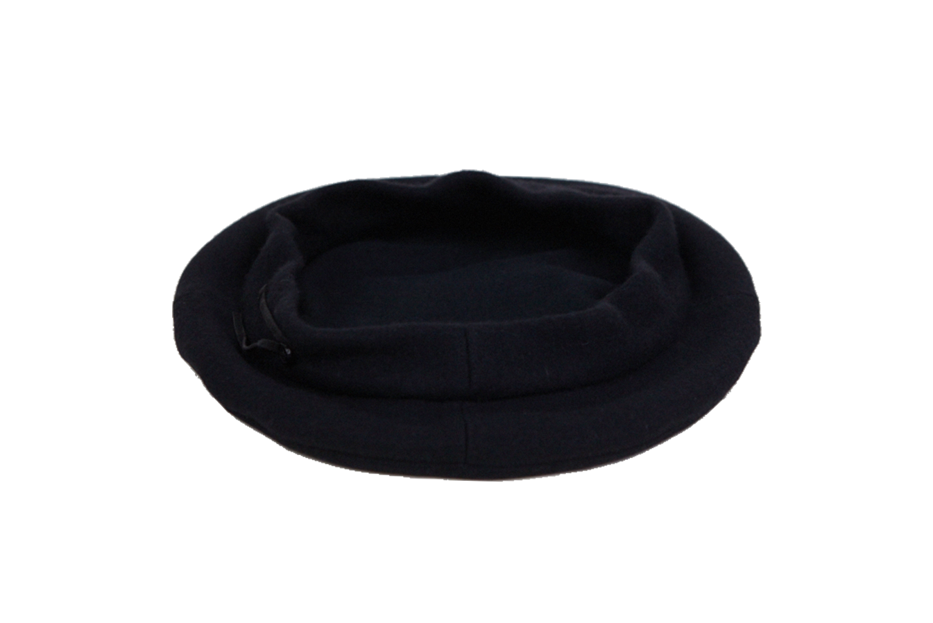 picture free stock Classic Beret in Black Wool